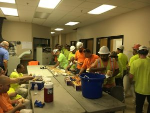 Kurtz Provides Lunch for JE Dunn Employees
